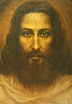 Ariel Agemian Painting of Jesus Based on the Shroud