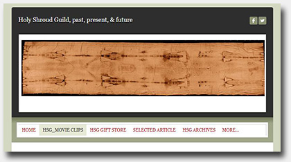 Late Breaking Website News!  Shroud of Turin