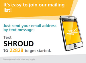 Join Our Mailing List Using Your Smart Phone